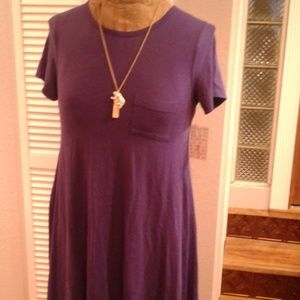 💜PLUM PURPLE SOLID CARLY DRESS..SMALL
